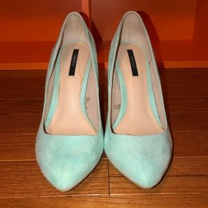 Mint green forever 21 heels